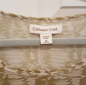 Coldwater Creek Tops - Coldwater Creek Tank Top~Med  NWOT green print